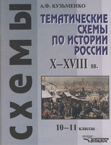 Тематич. схемы по истории России 10-18 вв. 10-11 кл