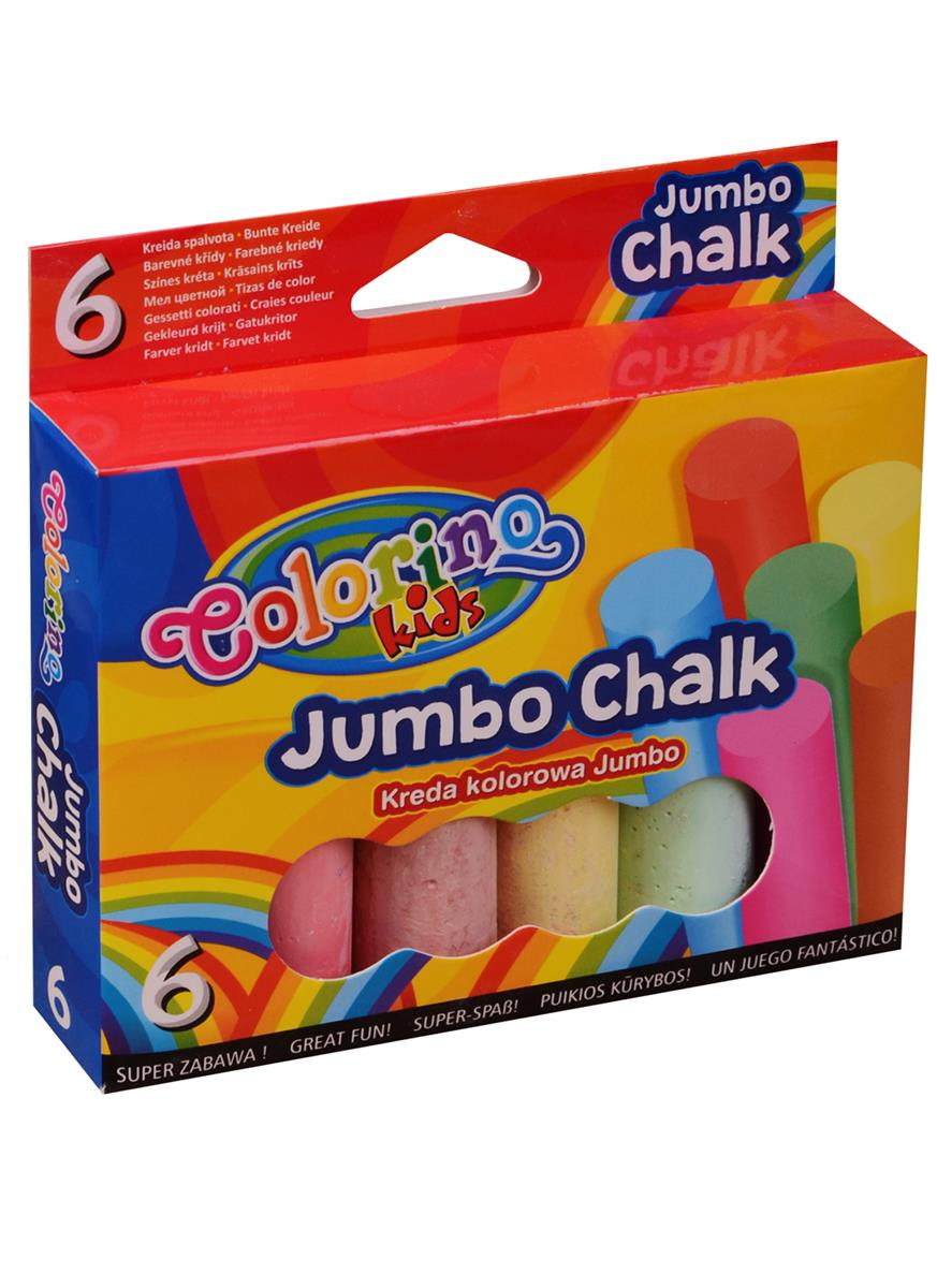 Мелки цветные 06цв JUMBO, к/к, подвес, Colorino