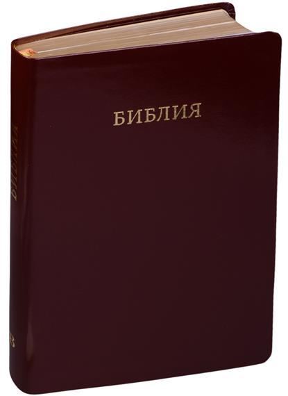 Библия. Книги Священного Писания Ветхого и Нового Завета. Канонические с параллельными местами и приложением (коричневая кожа)