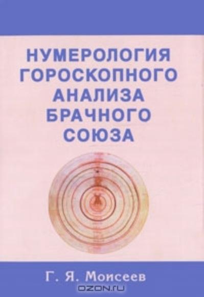 Моисеев Г. Нумерология гороскопного анализа брачного союза нумерология натального гороскопа человека моисеев г я 0189