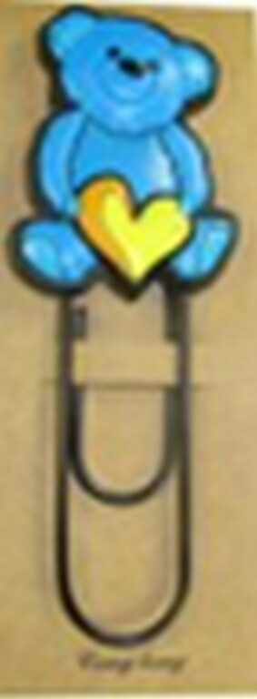Скрепка - закладка Мишка