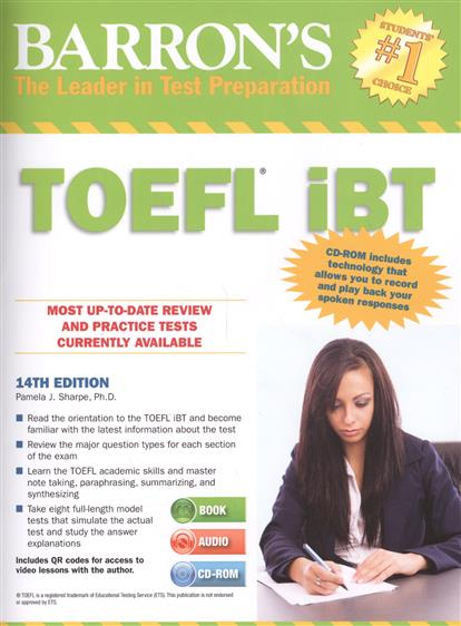 Sharpe P. Barron's TOEFL iBT (+2CD) (+1CD-ROM) objective ielts advanced student s book with cd rom