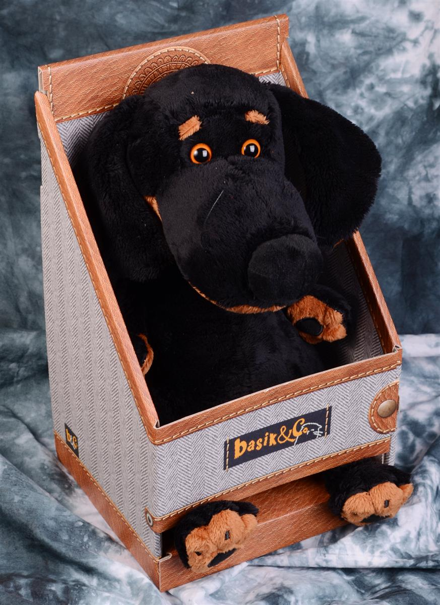 Мягкая игрушка Такса Ваксон в ошейнике (29 см)