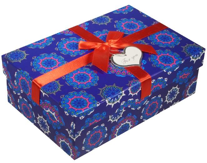 "Коробка подарочная ""Снежинки"", 14,5*21*5*7,5см"