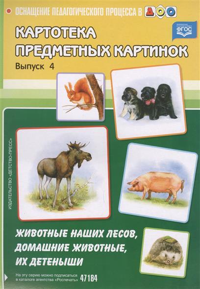 Нищева Н. Картотека предметных картинок. Выпуск 4. Животные наших лесов, домашние животные, их детеныши кто мой малыш животные и их детеныши