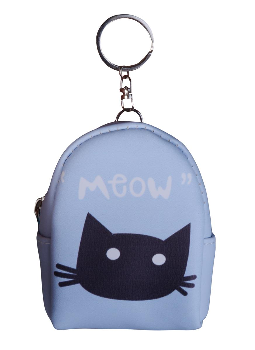 Сумочка-кошелек на молнии Кот Meow (10см) (ПВХ бокс)