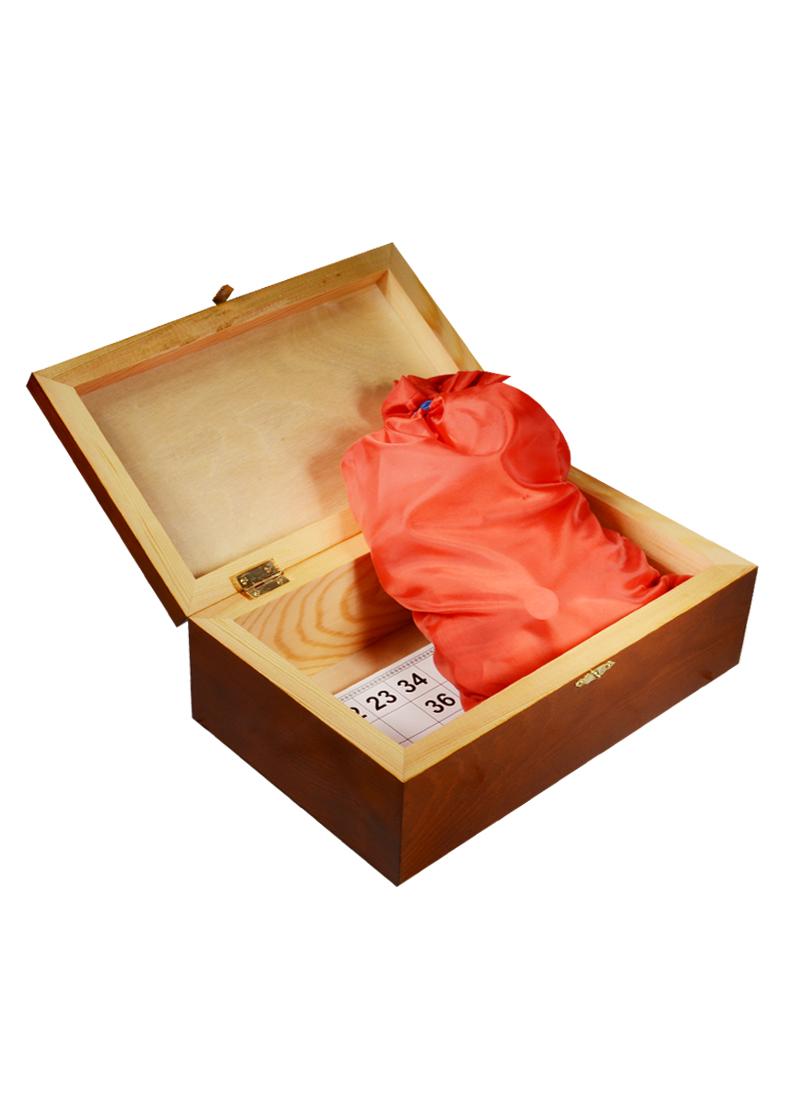 Игра Лото в подарочной деревянной коробке Цветы (14х25х8) (123-072)