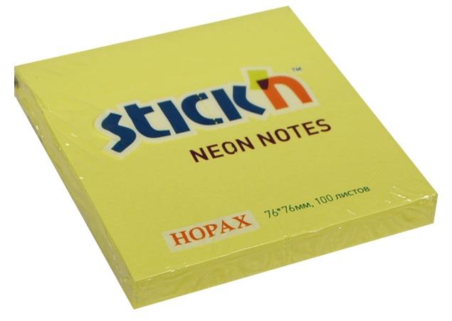 Бумага для записей STICK'N желтый, 100л.
