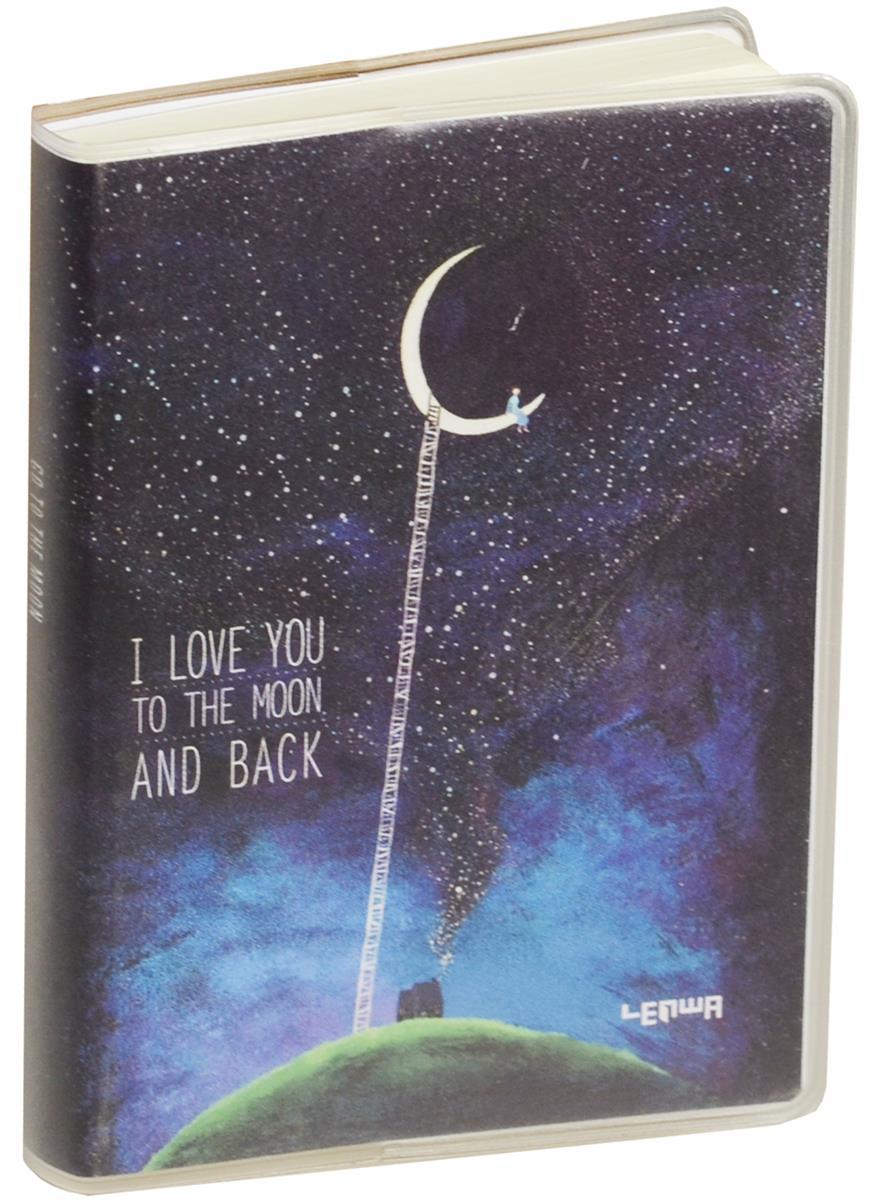 "Записная книжка А7 80 листов клетка ""To the moon"""