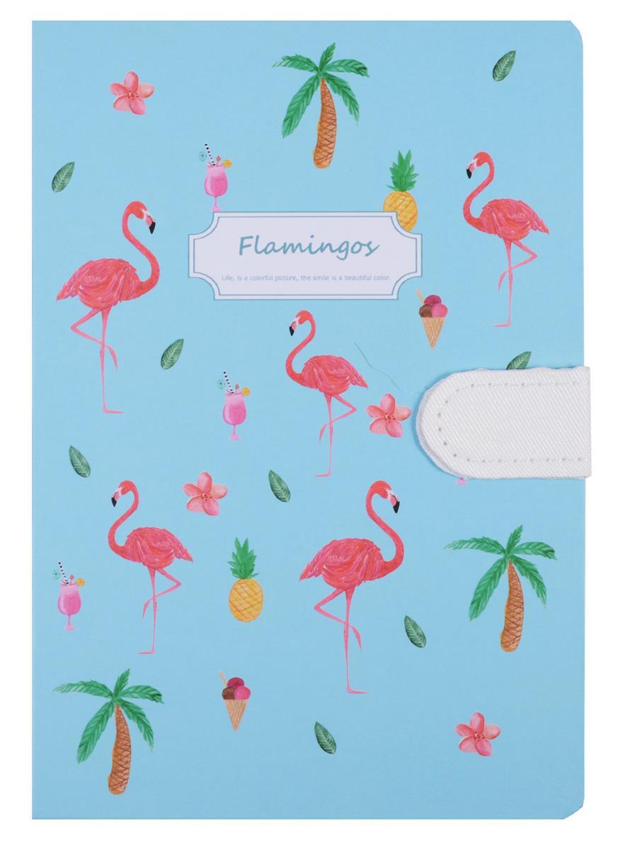 Блокнот с магнитной застежкой Фламинго (256стр) (13x19)