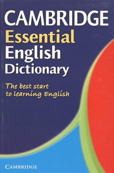 Cambridge Essential English Dictionary cambridge essential english dictionary second edition