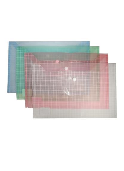 Папка-конверт А4 на кнопке 0,14мм, ассорти, Sworld