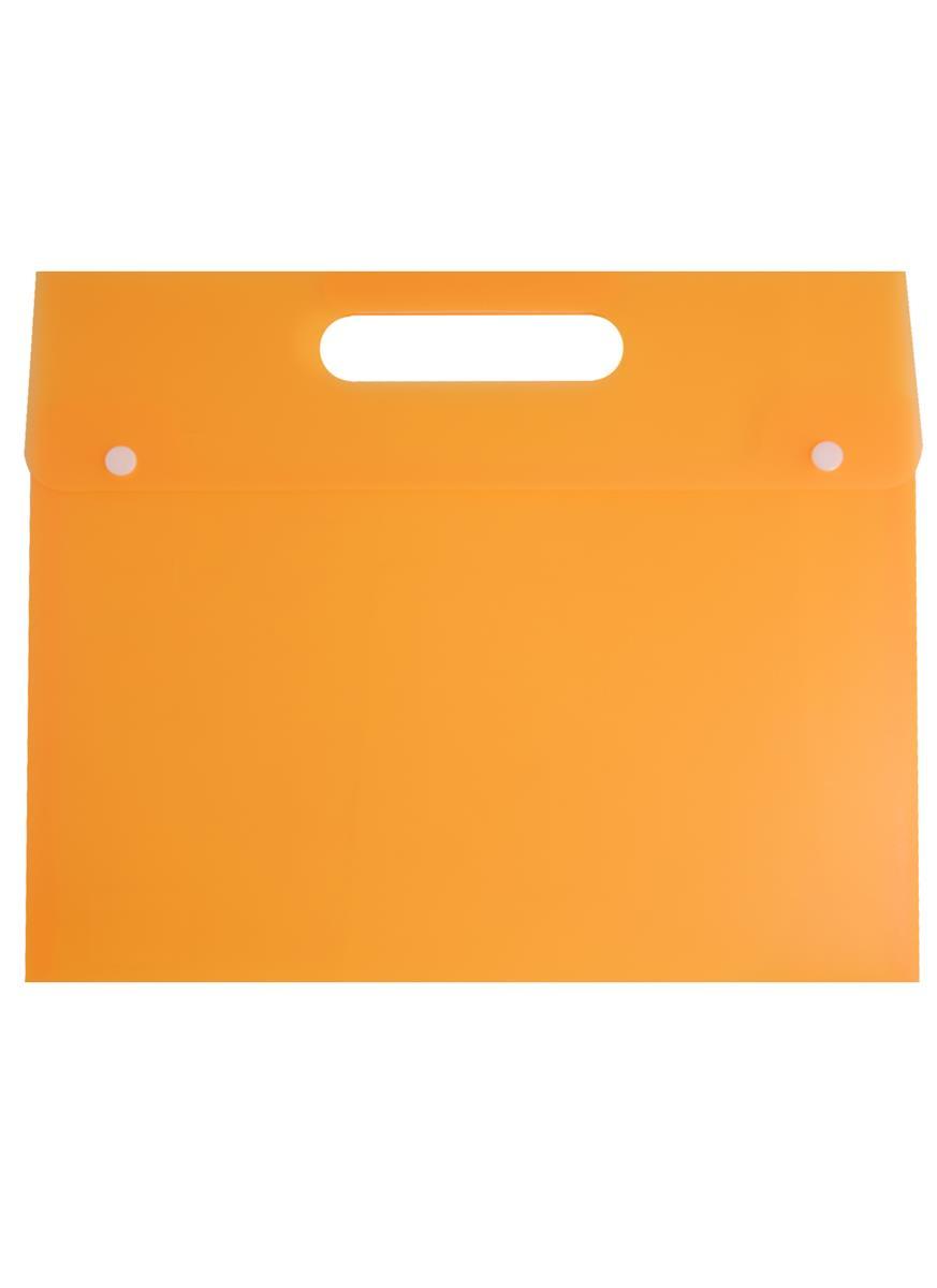 Папка-конверт на кнопке с вырубной ручкой