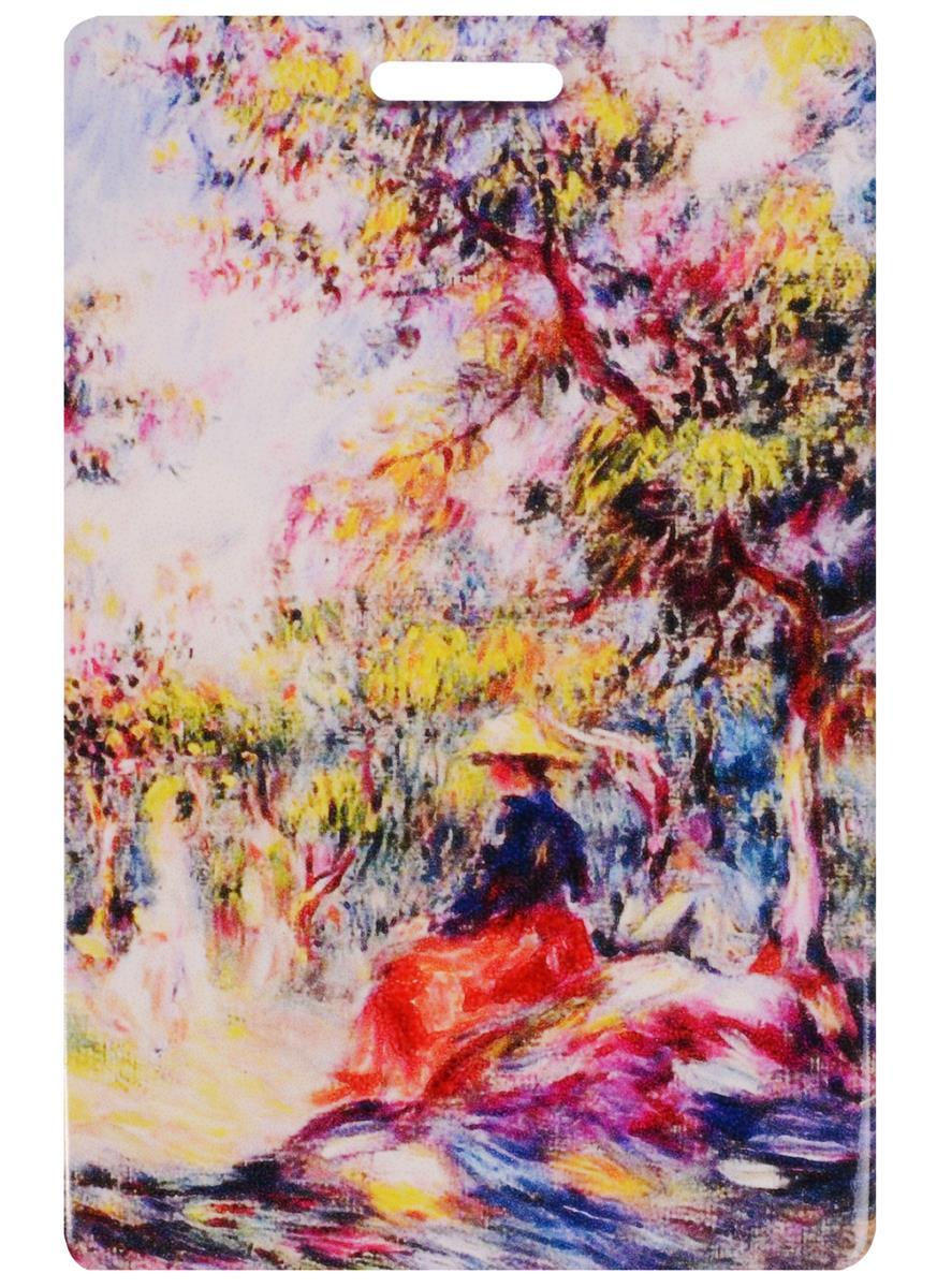 """Чехол для карточек Пьер Огюст Ренуар """"Пейзаж с женщиной"""" (ДК2015-033)"""