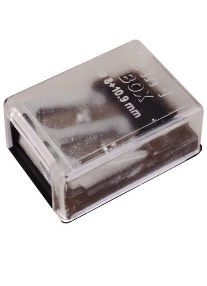 Точилка металлическая с контейнером, 2 отверстия