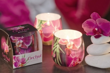 БАРТЕК СВЕЧИ  Ароматизированная свеча в стакане Орхидея (Orchid)