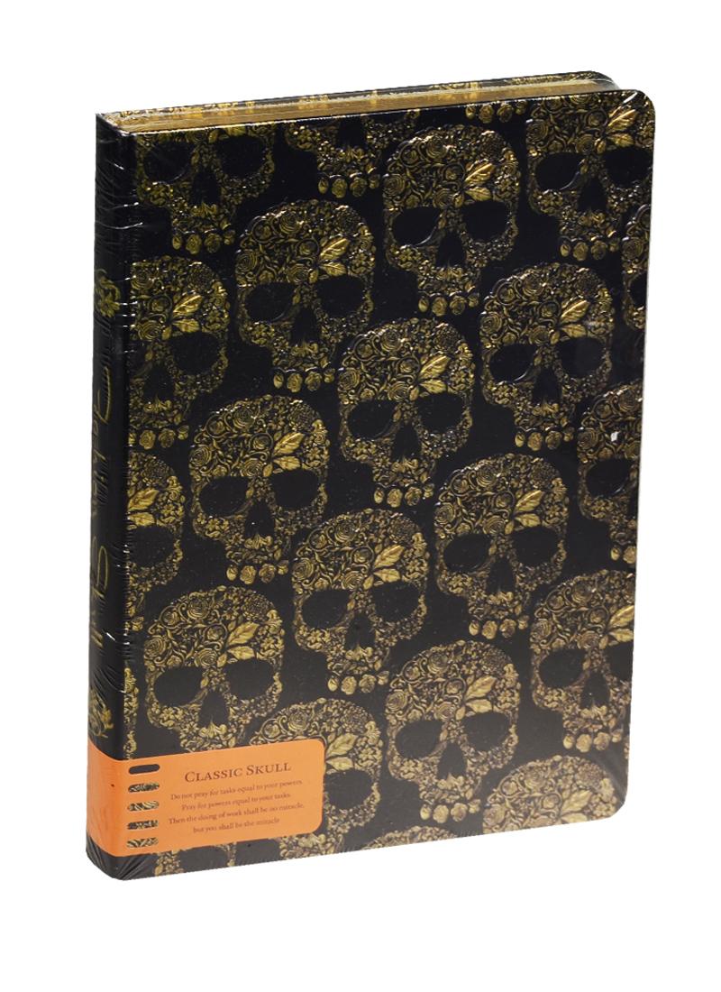 Блокнот Черепа (золотой и серебряный обрез) (192стр) (14х21)