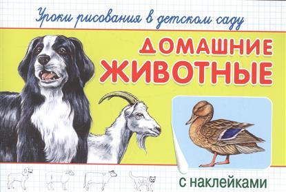 Домашние животные. Уроки рисования в детском саду с наклейками