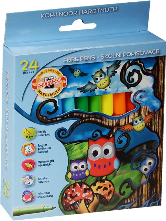 Фломастеры смываемые, 24 цвета, KOH-I-NOOR