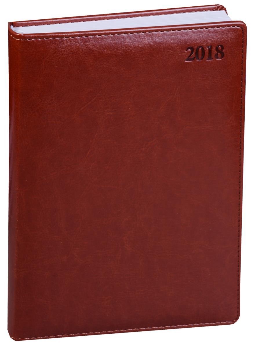 """Ежедневник датированный 2018г. А5 176 листов """"Berlin"""" коричневый"""
