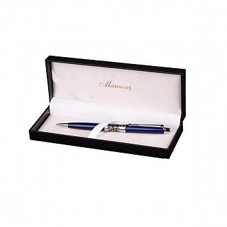 """Ручка подарочная шариковая """"Venezia"""" синяя, Manzoni"""