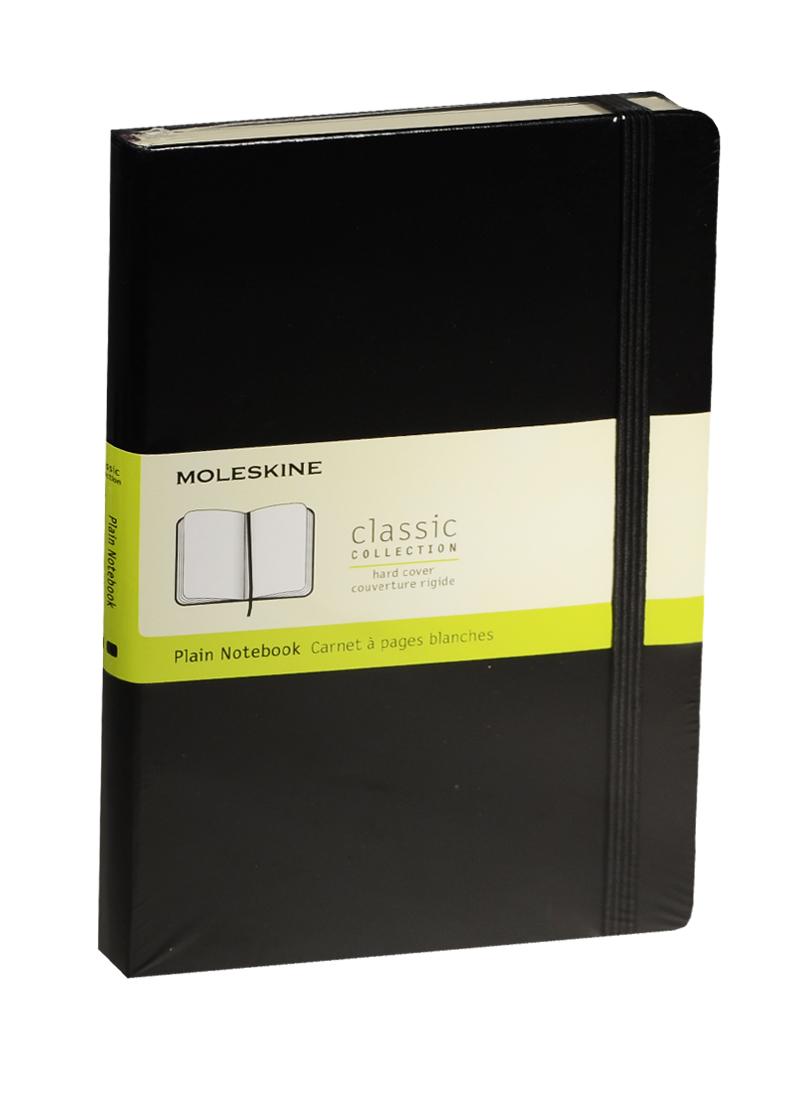 """Книга для записей А5 120л нелин. """"Classic Large"""" черная, жесткая обложка, резинка, Moleskine"""