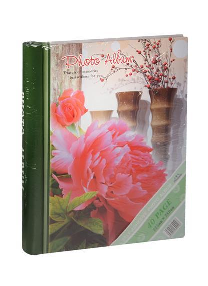 Фотоальбом магнитный 20 листов Пионы  (24х29)