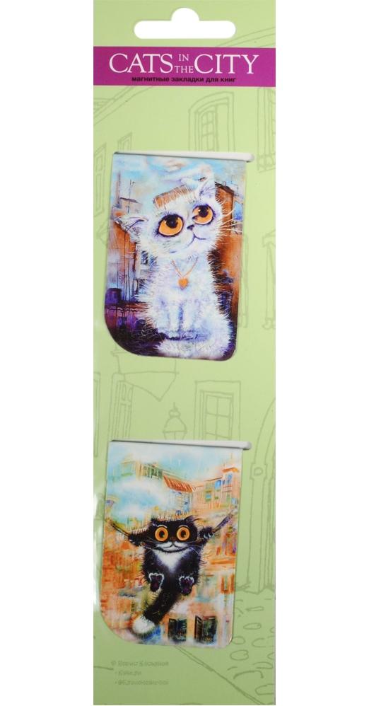 Магнитные закладки Cats in the City (зеленый)