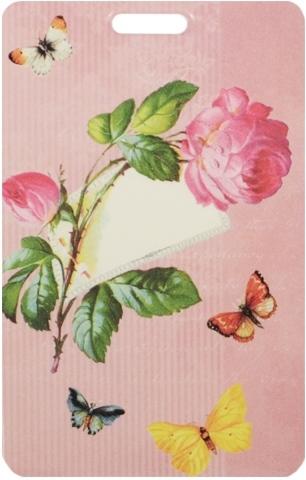"""Чехол для карточек """"Винтаж с розой"""""""