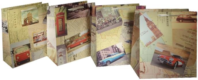 """Пакет подарочный бумажный """"Путешествия"""", А4"""