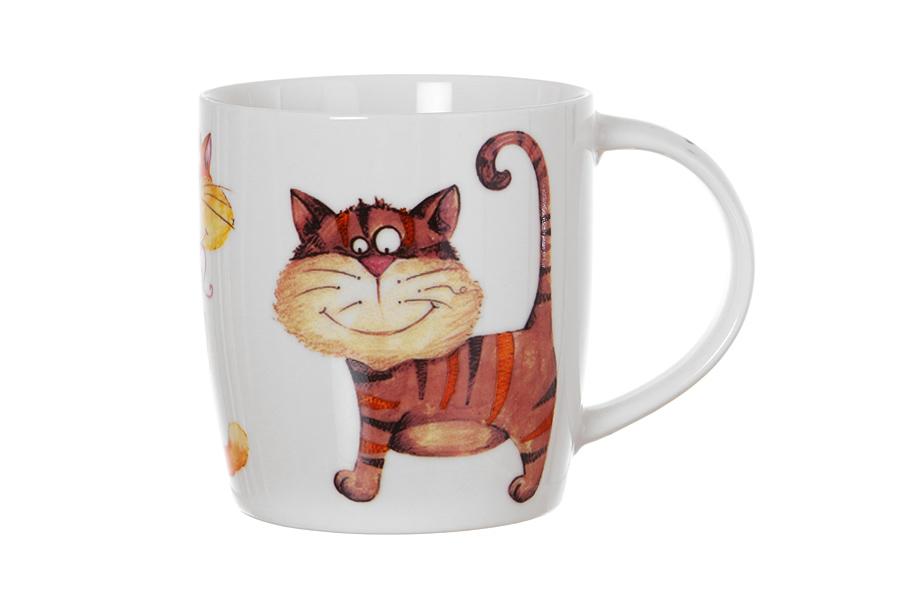Кружка Смешные кошки (380мл) в подарочной упаковке (260-104) (Авангард)