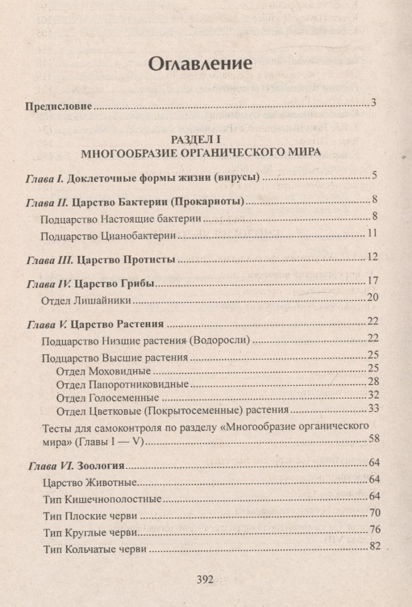 Краткое содержание учебника биологии 8 класса л.в.камлюк