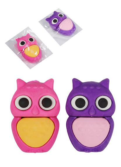 "Ластик ""Яркие совы.Owls"", ассорти, Sunbaby"