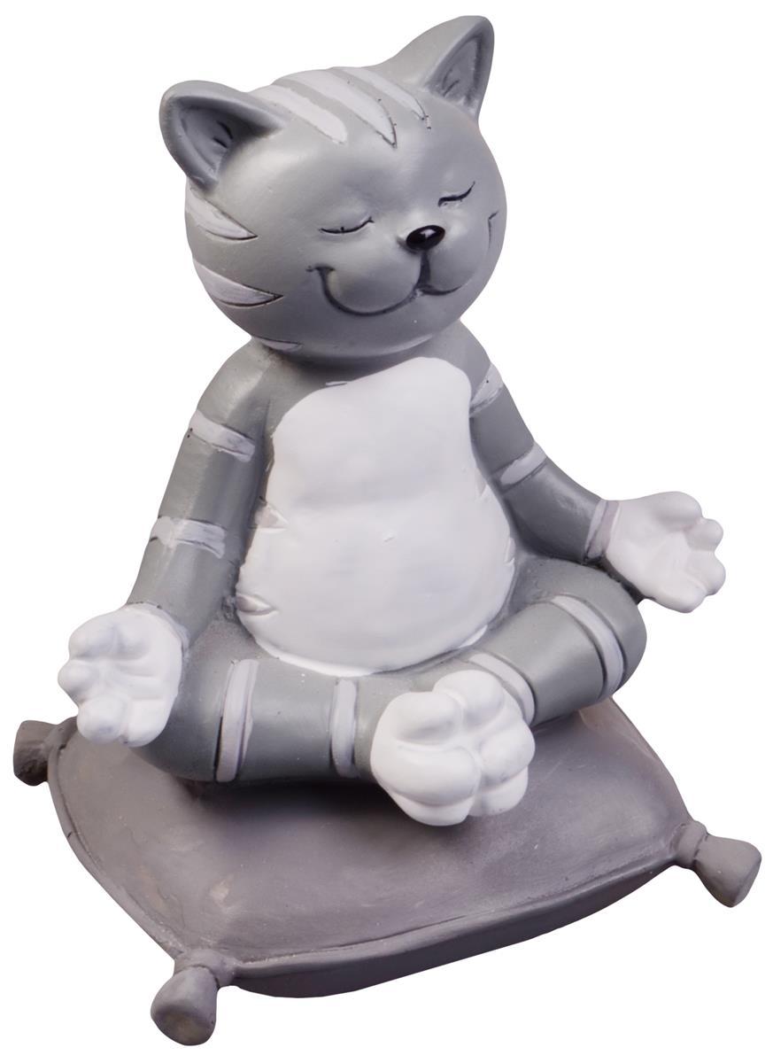 Фигурка Йога-кот (6х7х10)