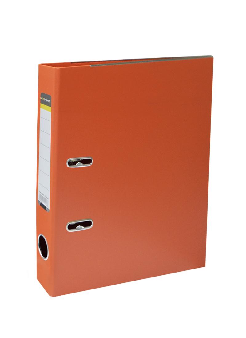 Папка архивная 55мм А4 оранжевая,PVC,прозр.карман,металл.уголки, inФОРМАТ