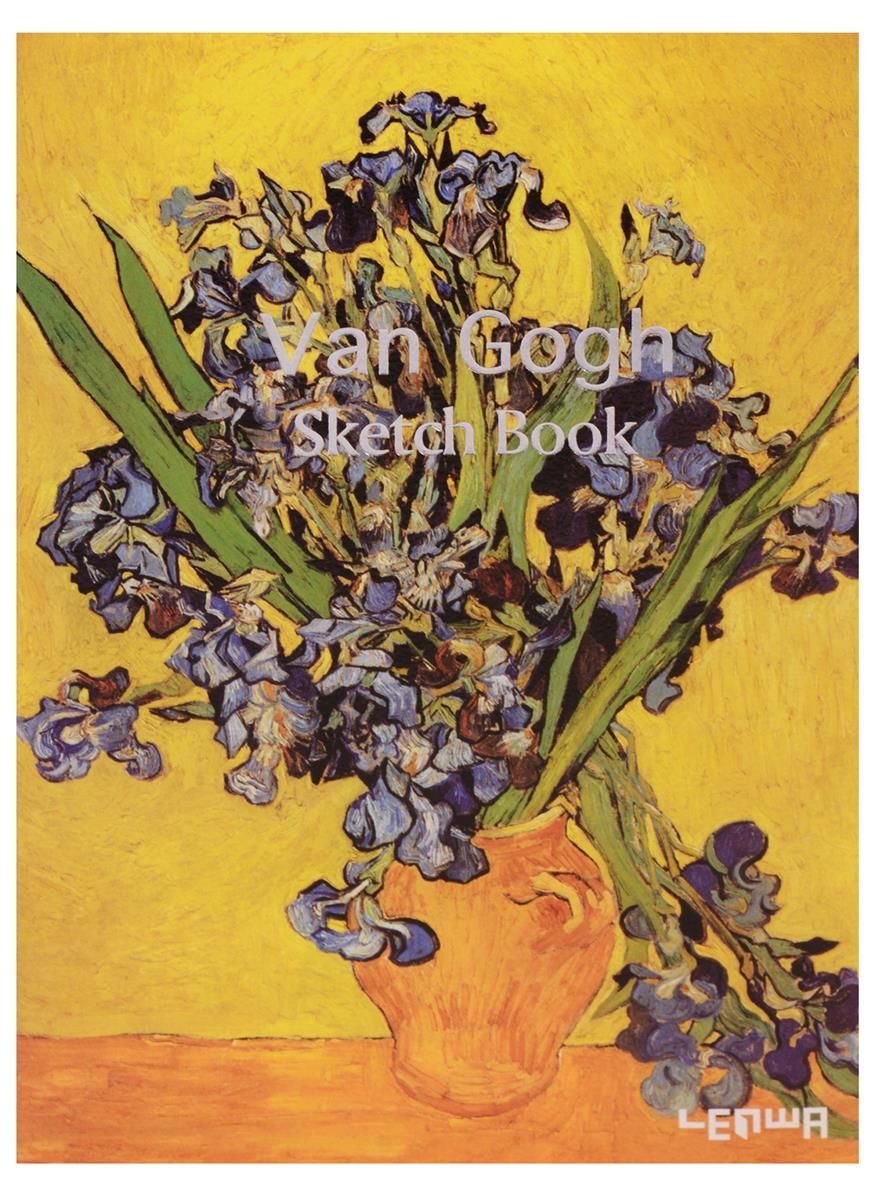 """Скетчбук """"Ван Гог: Ирисы"""",  120 л."""