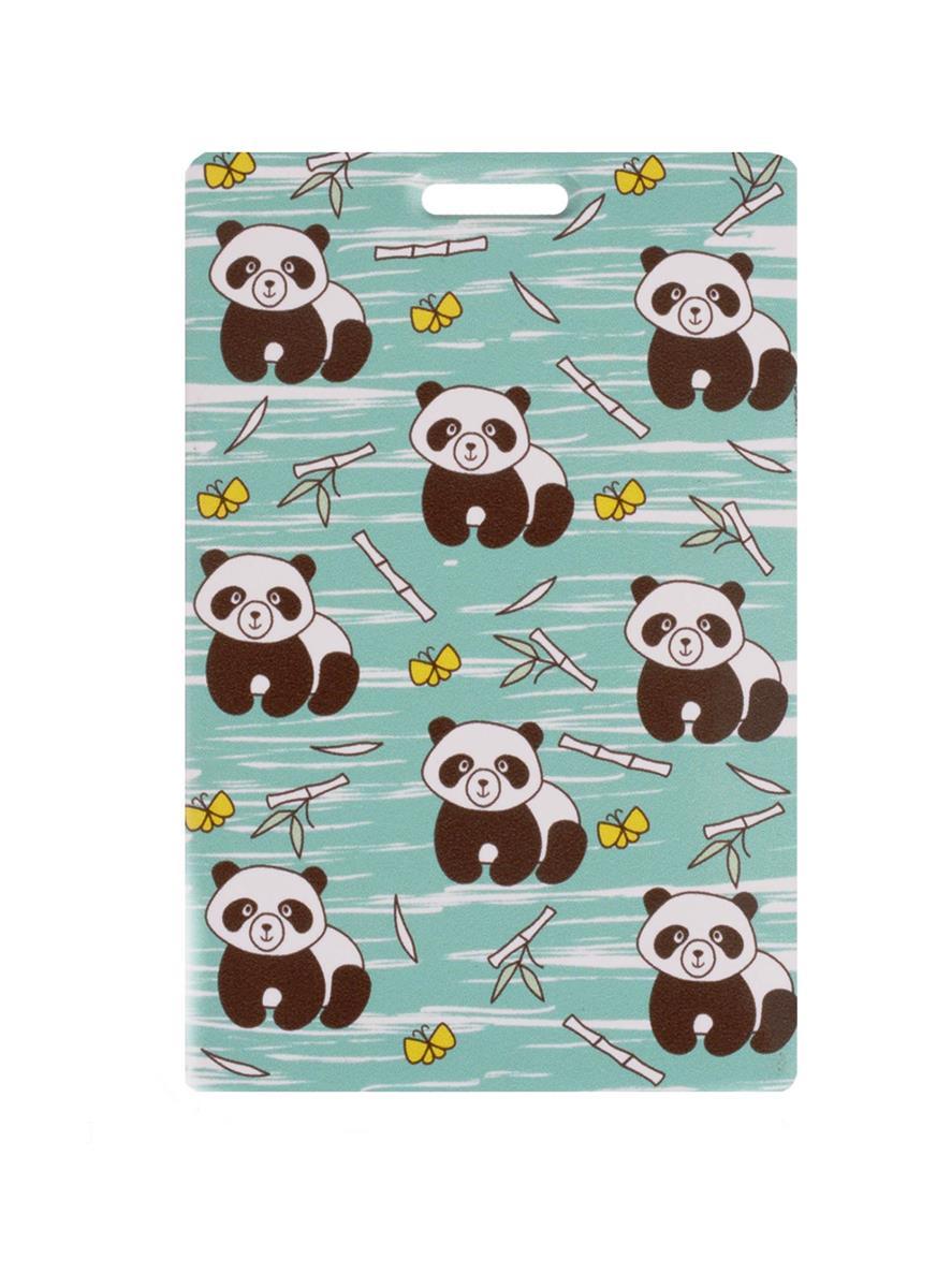 Чехол для карточек Панды с бамбуком