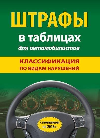 Штрафы в таблицах для автомобилистов. Классификация по видам нарушений. С изменениями на 2016 г.