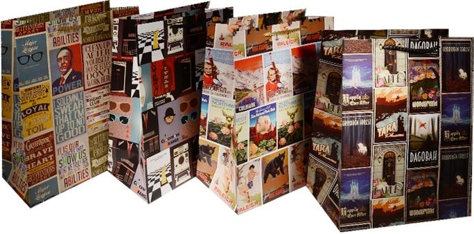 "Пакет подарочный бумажный ""Плакаты"", А4"
