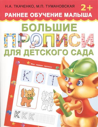 Ткаченко Н., Тумановская М. Большие прописи для детского сада (2+) от печатных букв к прописным прописи для детского сада