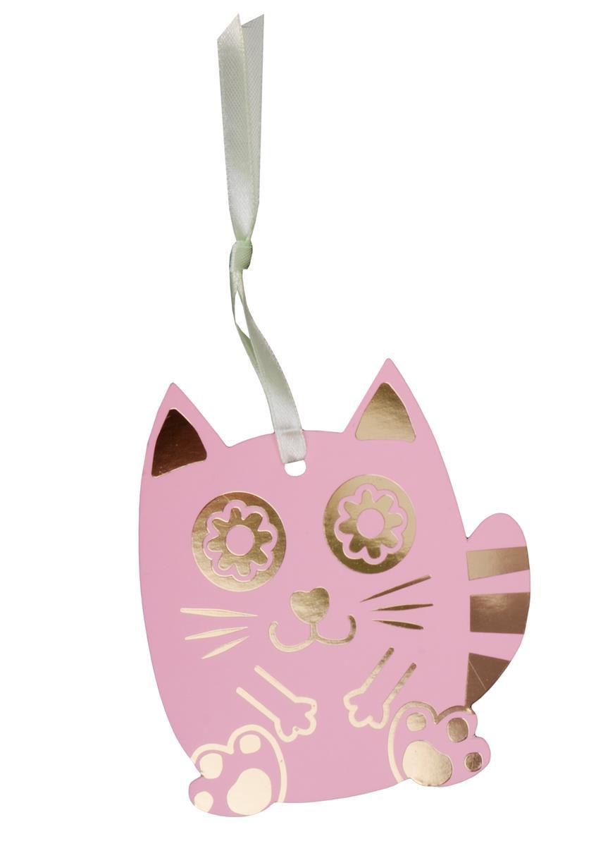 Закладка для книг Счастливый кот (розовый)