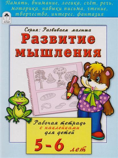 Развитие мышления. Рабочая тетрадь с наклейками для детей 5-6 лет
