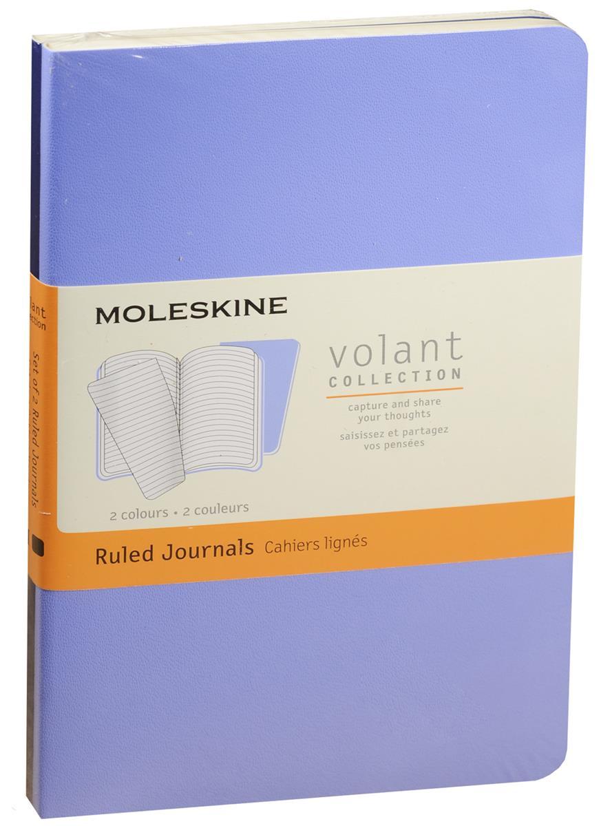 "Записная книжка А6 40л лин. ""Volant Pocket"" (2шт.) синяя/темно-синяя, мягкая обложка, Moleskine"