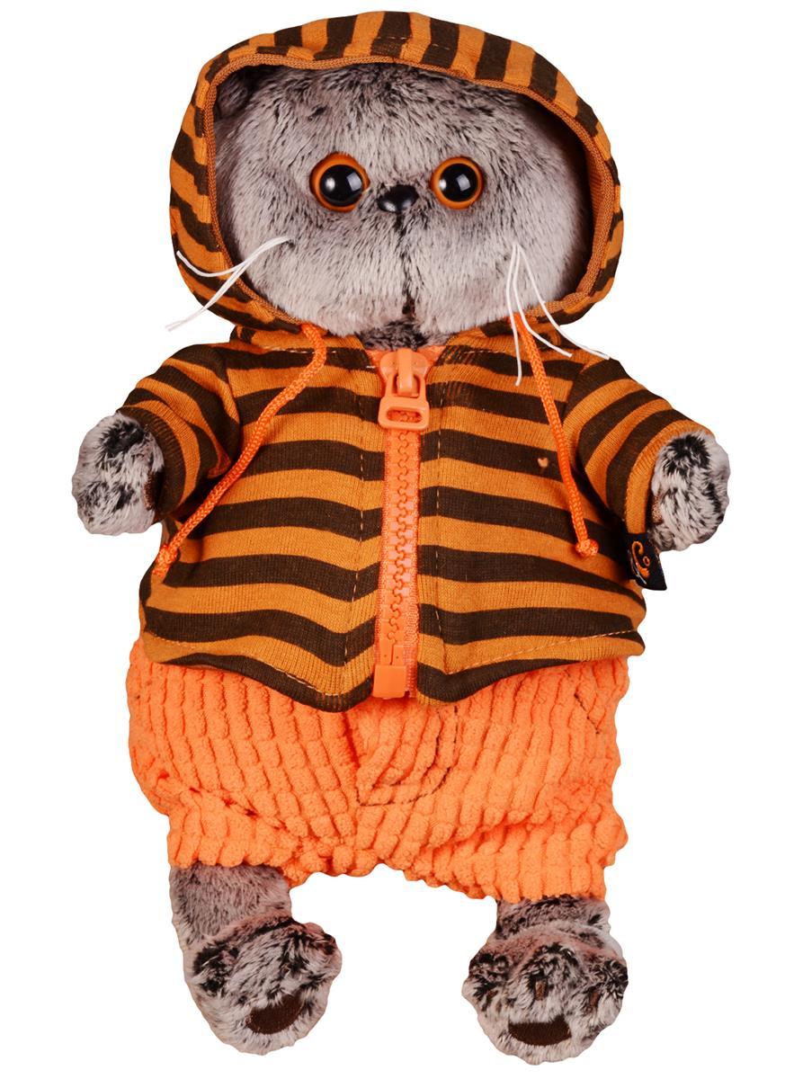 Мягкая игрушка Басик в штанах и полосатой кофте (19 см)
