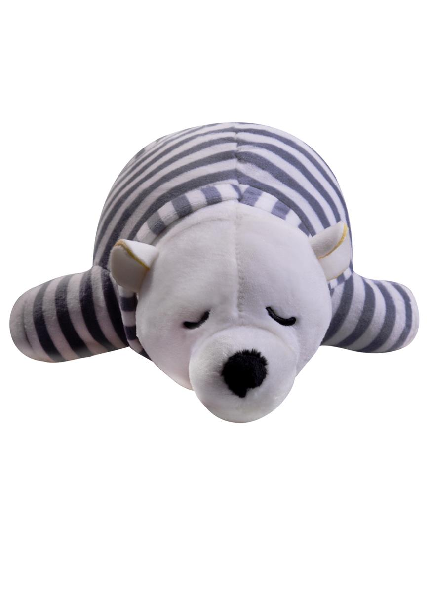 Мягкая игрушка Спящий медведь в тельняшке (25см)