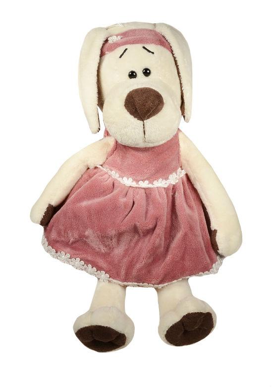 Мягкая игрушка Собачка Лапуська в бархатном платье (20 см) (OS122/20)