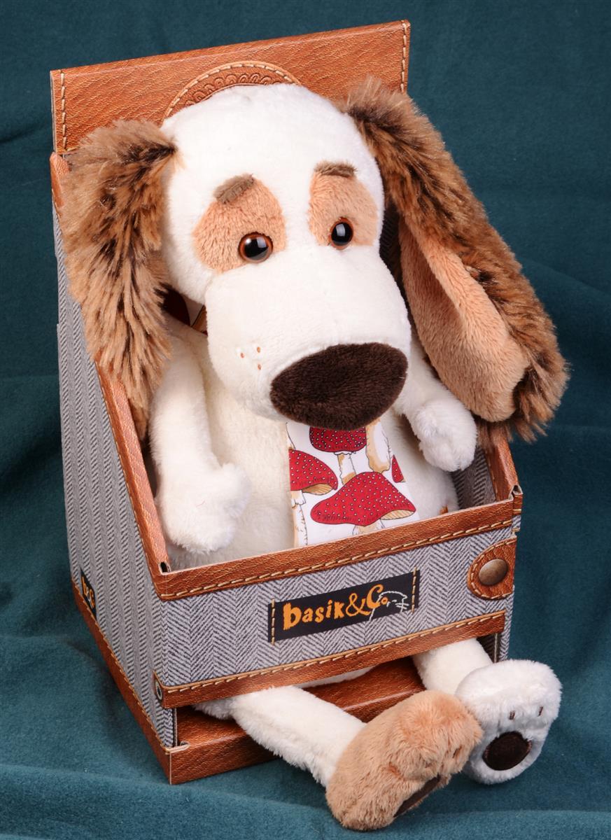 Мягкая игрушка Такса Бартоломей в галстуке (27 см)