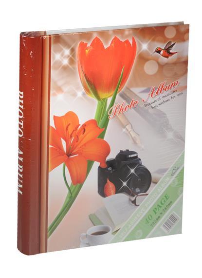 Фотоальбом магнитный 20 листов Красный тюльпан (24х29)