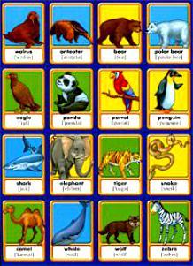 Животные Memory Англ. слова