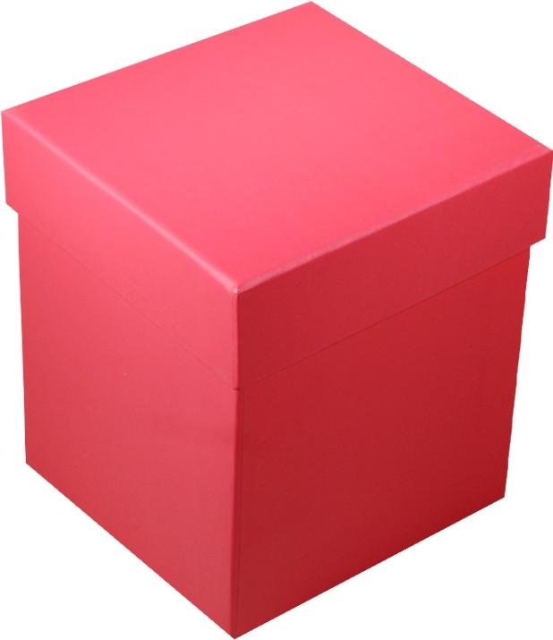 "Коробка подарочная ""Неон фуксия"" 10*10*11см"